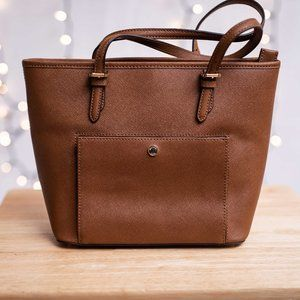 NWT Michael Kors Leather Med TZ Snap Pocket Tote
